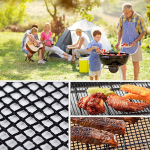 BBQ Grill Mat Non-stick Mesh BBQ Pad Barbecue Grilling Baking Mat Cooking Plate For Party Grill Mat Tools CCA3301