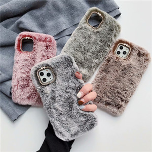 Fashion Lady Case for iPhone 12 XS Max XR X 11 Pro 8 Gift TPU Case Furry fluffy Warm Cover Soft Phone Case
