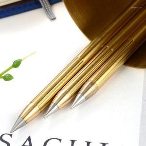 Saf Pirinç Metal Retro Pirinç Mürekkepsiz Penno-Mürekkep Kalem Bakır Hediye Kalem Stylus Everlasting Kalem Açık Seyahat Kamp Notları1
