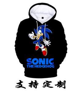 3-13-летний Детские толстовки Sonic Hedgehog 3D Print Hoodie Толстовка для мальчиков Девочки Harajuku Длинный рукав Куртка Пальто Teen Shotv2wr
