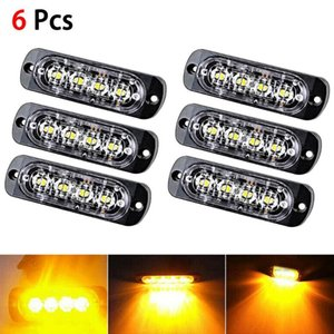 6pcs 12V 24V 4 Led lights Car Trailer Truck Motorcycle Emergency side marker light Turn Light Bar Indicators lamp Spot LED