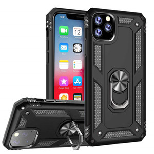 Shockproof Armor Kickstand Phone Case For iPhone 12 mini 11 Pro XR XS Max X 6 6S 7 8 Plus Magnetic Finger Ring Anti-Fall Cover