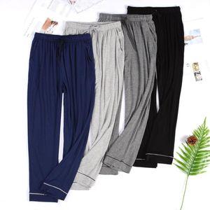 Men's Thin and Large Size Men's Anti-mosquito Home Pants Solid Color Comfortable Modal Pajama Pants Pantaloni Pigiama Uomo