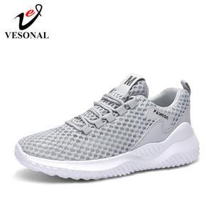 VESONAL الصيف مش رجل حذاء رياضة أحذية رجالية بالنسبة للرجال الأحذية ذكر عارضة الراحة تنفس خفيفة الوزن المشي رياضة الكبيرة الحجم 46 C1023