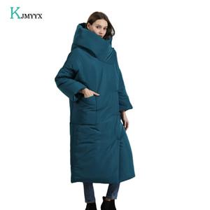 KJMYYX Winterjacke Frauen New verdicken lange mit Kapuze Parka Frauen Wintermantel warme Jacken weiblich Mäntel Overcoat 201022