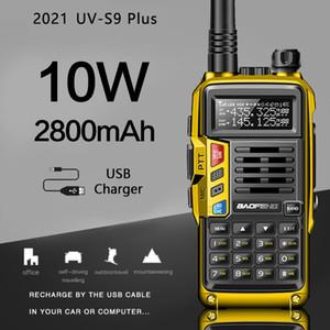 2021 Baofeng UV-S9 Além disso Powerful Walkie Talkie Radio CB Transceiver 8W / 10W 10 km Long Range Rádio Portátil para a caça Forest City