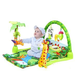 Delicate Music Sound Farm Animal Kids Baby Play Playing Mat Carpet activity forest Play mat Gym Toy baby game mat grow up gift LJ201113