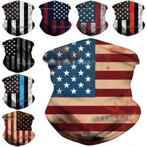 EWL 배송 미국 국기 두건 남성 여성 14 개 스타일 넥 게이터 튜브 원활한 얼굴 커버 재사용 오토바이 절반에 스카프 EWD1293 마스크