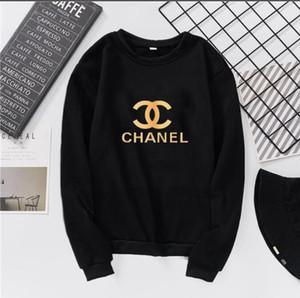 Hoodies Schwarze Jacke Gedruckt für Frauen Herbst Stickerei Designer Sweater langärmelige Kapuzenoberseiten-Kleidung