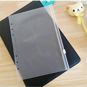 Wholesale Taccuino A6 sacchetto trasparente di immagazzinaggio fogli staccabili plastica PVC Zipper singolo inserto Business Card Bill File Bag