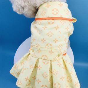 Vestidos de diseñador creativo Animales Carta de moda de alta Stree encanto encantador Windcoats mascotas Impreso Schnauzer Bulldog Falda