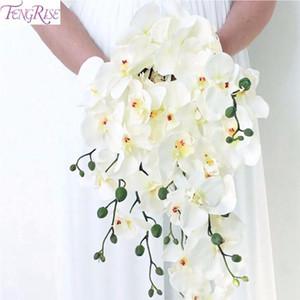 Fengrise artificielle orchidée orchidée blanche orchidée phalaenopsis mariée mariage bouquet papillon décoration de douche de mariée