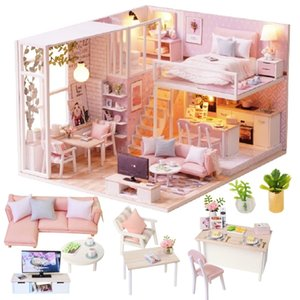 Cutebee Doll House Furniture Miniature Dollhouse DIY Miniature House Room Box Theatre Toys for Children Casa DIY Dollhouse L22C Y200413