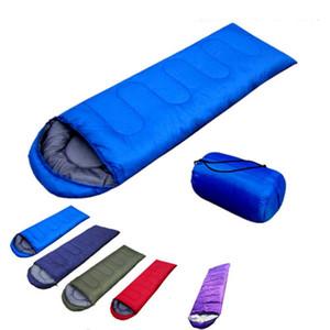 Envelope Outdoor Camping Adulto Sleeping Bag portátil Ultra Luz do curso Caminhadas Sleeping Bag Com Cap DLH439