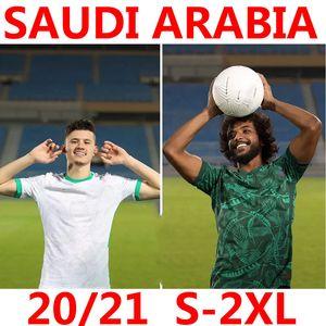 2020 2021 Jersey Saudi Soccer Home Away 20 21 Arabias Salem Al Dawsari Abudullah Alhamdan Yasir Al Shahrani Homens Kit Kit Camisa de Futebol