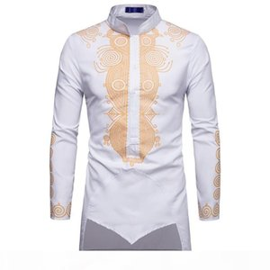 ZUZK Shirt Men Fashion Africa Clothing Long Pullovers African Dress Clothes Hip Hop Robe Africaine Casual World Apparel