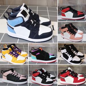 Nike Air Jordan 1 детские кроссовки Дети Спорт Белые Дети Huaraches Huraches Hurache Кроссовки Детские кроссовки Размер 22-35