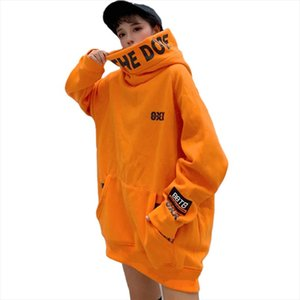 Winter Cashmere Warm Hoodies For Women Cotton Long Sleeve Plus Size Korean Streetwear Unisex Hooded Hip Hop Long Sweatshirt