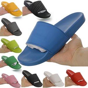 2021 Havuz Slayt Kauçuk Track-S Eğitmenler Tasarımcı Erkek Terlik Hız Katır Flip Flop Yuvarlak İtalya Kaymaz Kadınlar Rahat Sandalet Ayakkabı ile 41