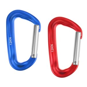 12KN Spring Clip Key Chain Carabiner Climbing Backpack Hook