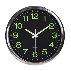 Luminous Wall Clock with Night Light Large Display Silent Non Ticking Quartz Battery Operated Indoor Outdoor Clock Home Decor