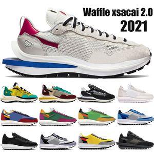 2021 Новый LD вафельный xsacai 2.0 мужчин, женщин кроссовки Спорт Фуксия игры Royal тройные черный белый глубокий синий нейлон мужские кроссовки