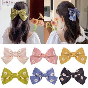 24Pcs 8.2 Inch Big Sweet Daisy Flower Hair Bows Girls Women Hairpin Hair Clip Kids Hair Accessories Beautiful HuiLin C460