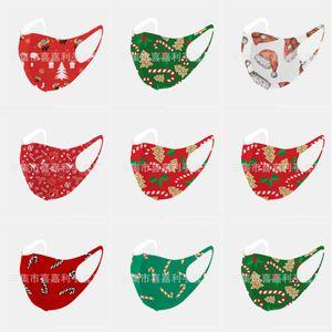 Designer Masques Visage de Noël MaskPrint S Coton Noël Lavable respirante de protection anti-poussière PM2,5 Masques de Noël # 817123143666 Activé Carbo