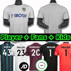 20 21 ليدز لكرة القدم بالقميص المتحدة الثالث بعيدا 2020 قميص 2021 رودريغو كوخ COSTA Alioski فيليبس BAMFORD الرجال الأطفال TRAINING كرة القدم تايلند