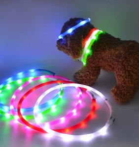 Pet Supplies Manufacturer Sells Usb Flashlight With Silica Gel Dog Collar Rechargeable Led Glow Walking Dog Light