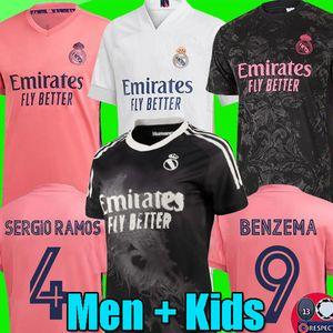 SERGIO RAMOS HAZARD BENZEMA Human Race Real Madrid 20 21 soccer jersey 2020 2021 ASENSIO MODRIC MARCELO football HRFC shirt kids kits