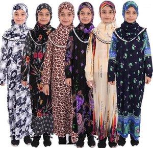 Saudi Arabia Moroccan Girls Abaya Kids Abaya for Children Muslim Gowns Dresses Turkish Prayer Robe Hijab Geyim Jalabiya Islamic1