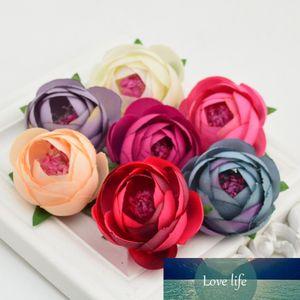 2pcs High Quality Silk Artificial Tea Bud Flower Head Wedding Party Decoration DIY Wreath Gift Box Scrapbooking Rose