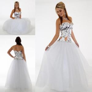Simple Camo Wedding Dresses Cheap Sweetheart A Line Tulle Wedding Guest Dress Bridal Gowns Floor Length Zipper Bridesmaid Dress Long