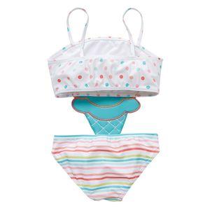 EW 2019 Sorvete Bonito Crianças Swimwear One-Piece Meninas Swimsuit Kids Swim Swim Ternos Meninas Bikini Crianças Ternos Banhos Criança Conjuntos de Crianças Beachwear 478 K2