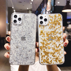 Glitter Gold Leaf Bling Phone Case For iPhone 11 Pro X XR XS Max Soft Silicone Clear Phone Cover For IPhone 7 8 6s Plus