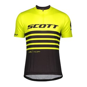 SCOTT Cycling Clothing Men Summer Quick Dry Bike Jersey Ropa Ciclismo Tour De France short sleeve Cycling Jersey Bicicleta Maillot Y20101903