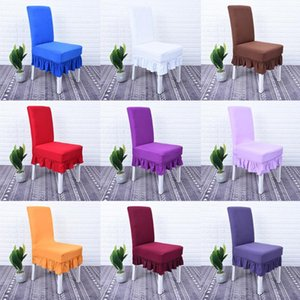 2020 New Arrival Spandex Chair Cover Stretch Elastic Dining Seat 95% Polyester 5% Spandex Chair Cover Wedding Banquet Plain Dyed