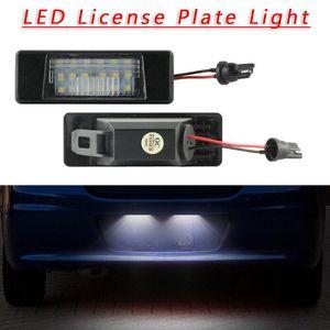 2pcs 12V Car LED License Plate Light Canbus 26510 8990 A For Qashqai Versa X-trail Juke Patnfinder NV200 Infiniti Q50