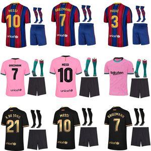 Spitzenthailand-Qualität 20 21 Erwachsene + Kinder-Kit Socken Fußball-Trikot camisetas futbol 2020 2021 BAR Fußballfußballhemden