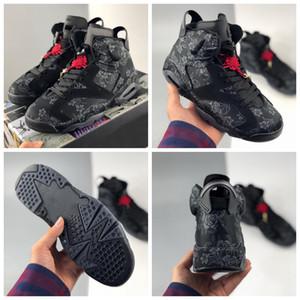 Nuevos 6 6s WMNS escoge día de 2020 zapatos de baloncesto del Mens Tamaño Formadores Negro Deportes seda al aire libre con la caja 13