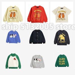 Sr. Spring and Summer New Boys and Girls Suéter de manga larga Ropa para niños Estampado de elefantes Suéter infantil LJ200812