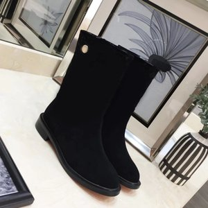 2020 latest autumn and winter catwalk new women's short boots Breezy flat ankle boots deerskin and velvet warm boots size 35-41 with box