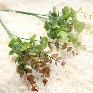 27cm Lifelike Artificial Fake Leaf Eucalyptus Plant Silk Flowers Nordic Decorations Artificial Plants Home Office Supplies