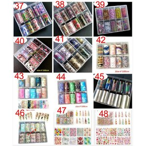 2020 new Brand nail foil butterfly flower 3D nail art foil designer logo foil10 rolls Decals Make up Art Decoration