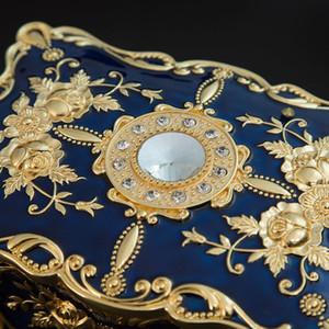 Enamel Flower Sculpture Trinkets Chest Jewelry Box Organizer Jewelry Packaging Bracelets Display Jewelry Case
