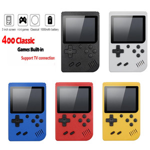 Video Game Console 3 inch Screen 8 Bit Mini Pocket Handheld Gaming Player 400 game free shipping
