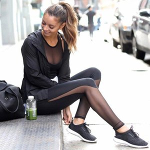 # H40 Leggings Women Mesh Black Transparente Cómodo Pant Sexy Slim Fit Leggins Entrenamiento Leggings para Mujer ActiveWear Ropa1
