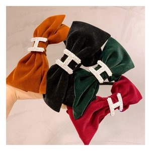Fashion Korean small fragrance style with wide border letters, middle kink hair hoop and headband accessories HJ