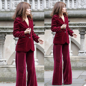 Winter Velvet Mother of the Bride Pants Suits Women Ladies Formal Evening Party Tuxedos Formal Work Wear For Wedding